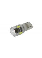 [LED autožiarovka T10 W5W Canbus biela with lens]