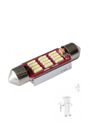 LED autožiarovka Sulfid C5W 36mm Canbus biela 3rd Gen.