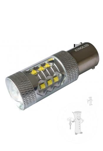 Cree LED autožiarovka BAY15d Canbus biela 80W