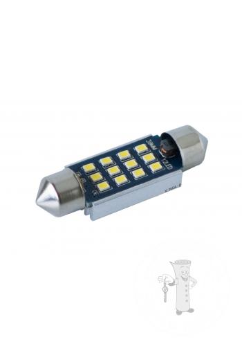 LED autožiarovka sulfid C7W 39mm Canbus biela 4th Gen.