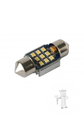 LED autožiarovka Sulfid C3W 31mm Canbus biela 4th Gen.