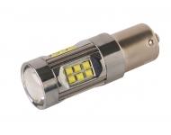Cree LED autožiarovka BA15s P21W Canbus 100% biela 150W